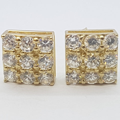 10K Yellow Erato Gold Earrings - Solid Gold Online