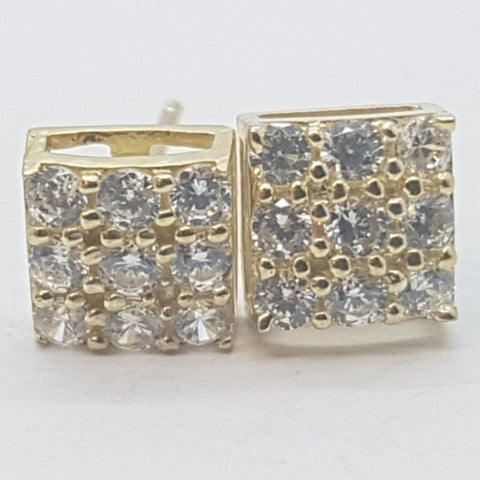 10K Yellow Gaia Gold Earrings