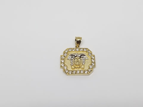 10K Yellow Gold Medusa Head Pendant - Solid Gold Online