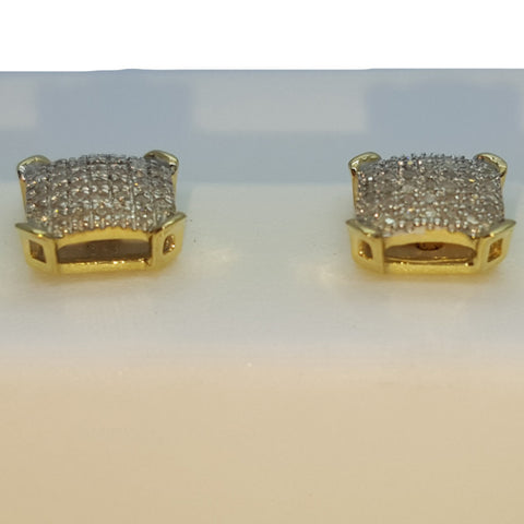 10K Yellow Hallstatt 0.18 Diamond Gold Earring