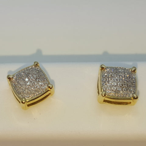 10K Yellow Innsbruck 0.09 Diamond Gold Earring