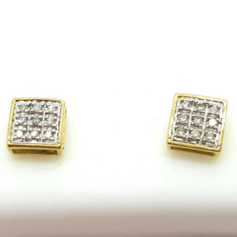 10K Yellow Krems 0.1 Diamond Gold Earring
