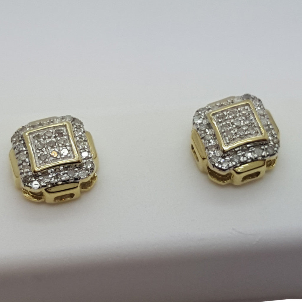 10K Yellow Krems 0.12 Diamond Gold Earring - Solid Gold Online