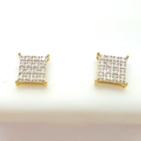 10K Yellow Leoben 0.18 Diamond Gold Earring