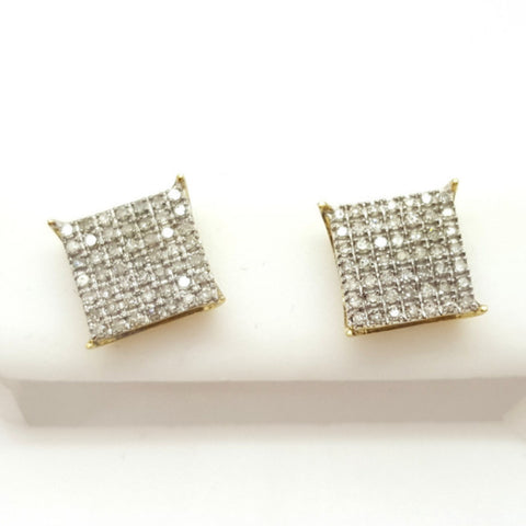 10K Yellow Lienz 0.4 Diamond Gold Earrings