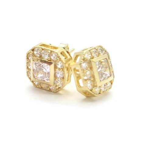 10K Yellow Linz Gold Earring