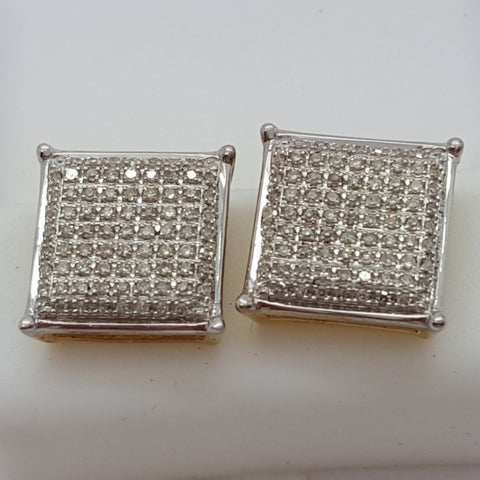 10K Yellow Schwaz 0.35 Diamond Gold Earrings