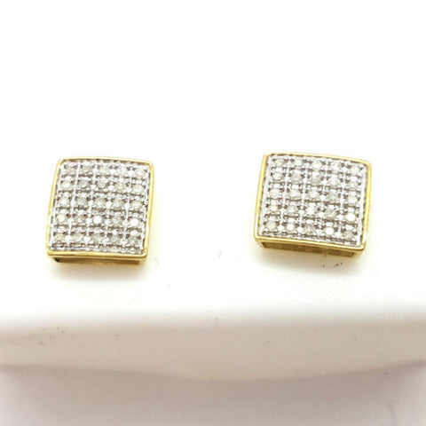 10K Yellow Traun 0.25 Diamond Gold Earring