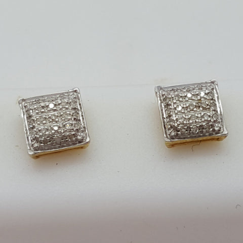 10K Yellow Tulln 0.1 Diamond Gold Earrings