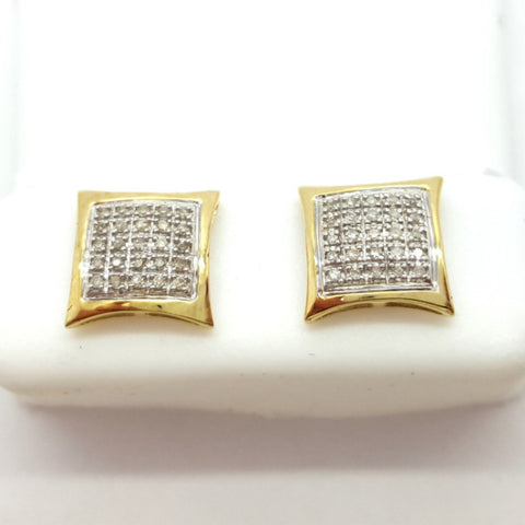 10K Yellow Zwettl 0.25 Diamond Gold Earrings