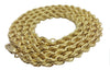 10K Yellow Gold Lobster Clasp Rope Chain 5 mm 16-32 Inches