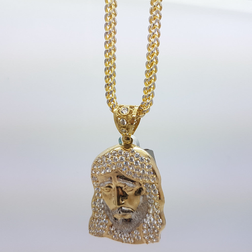 10k Yellow Gold Franco Chain Massa Necklace