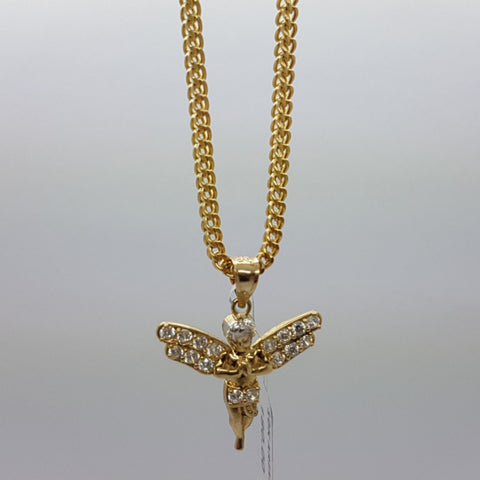 10k Yellow Gold Franco Chain Arianna Necklace