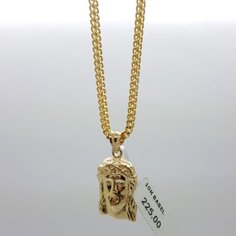 10k Yellow Gold Franco Chain Babel Necklace