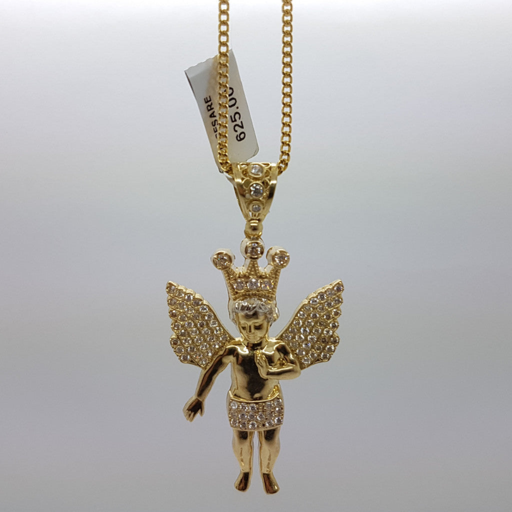 10k Yellow Gold Franco Chain Cesar Necklace