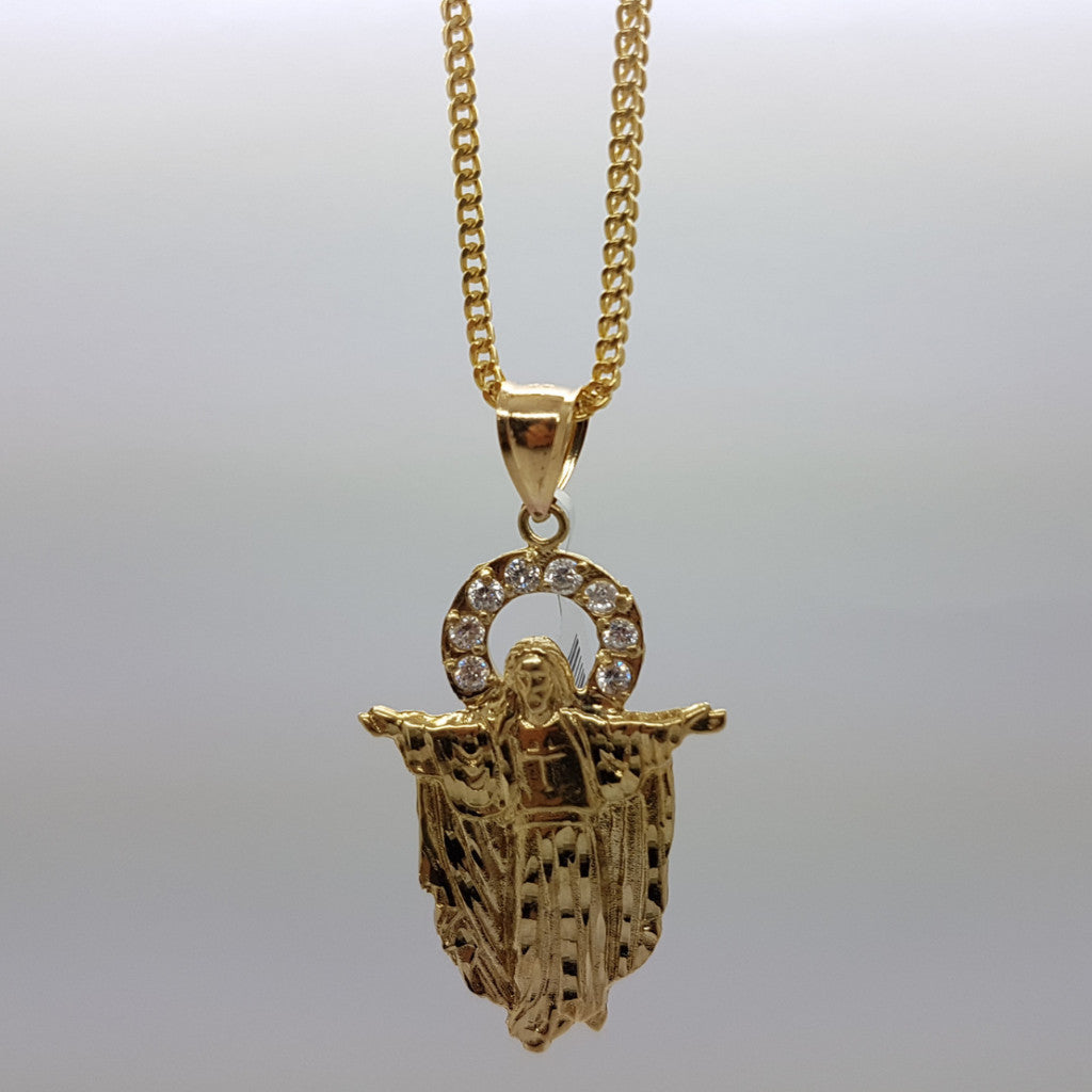 10k Yellow Gold Franco Chain Lille Necklace