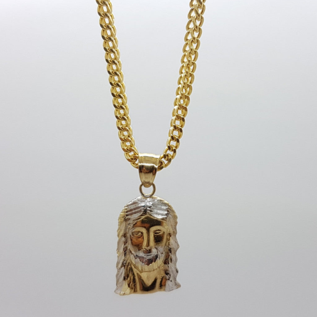 10k Yellow Gold Franco Chain Messiat Necklace
