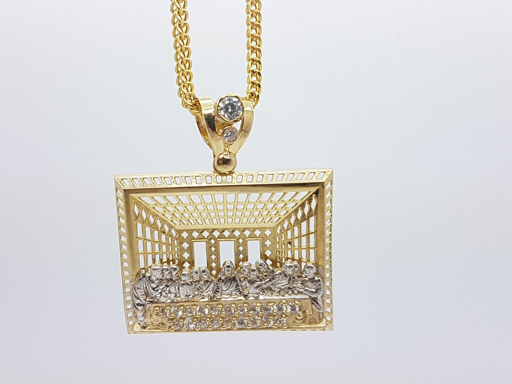 10k Yellow Gold Franco Chain RDJ Necklace