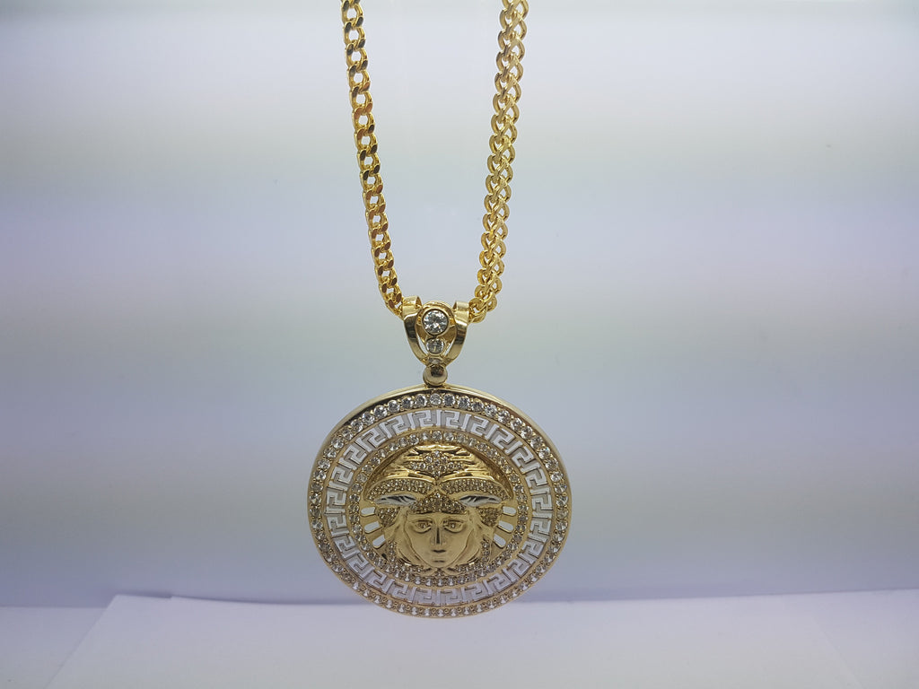 10k Yellow Gold Franco Chain Vers Necklace - Solid Gold Online