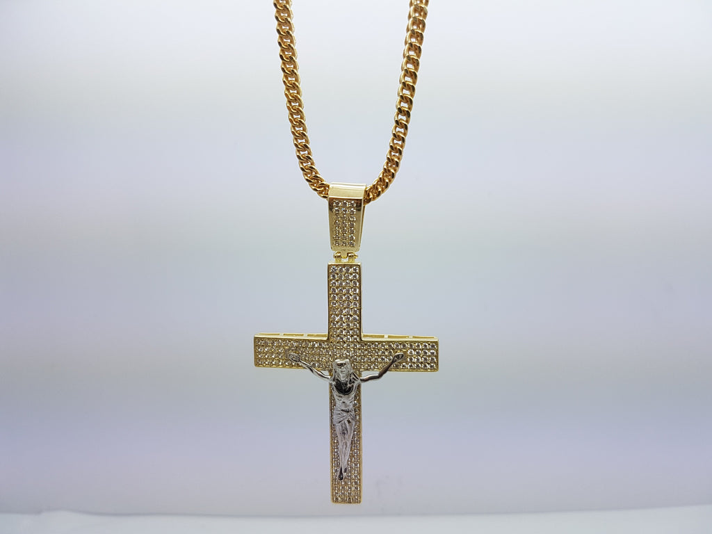 10k Yellow Gold Franco Chain Yeshaya Jumbo Necklace