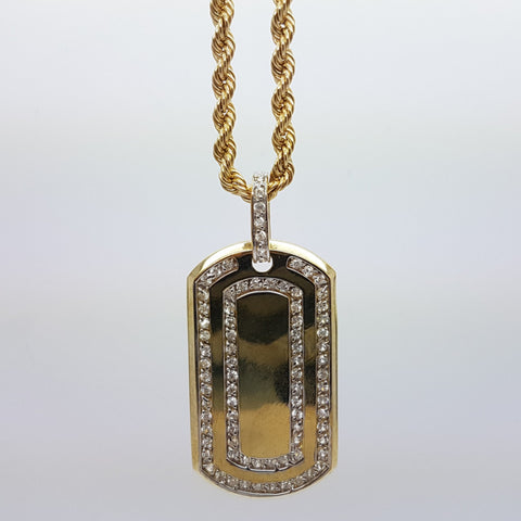 10k Yellow Gold Rope CHain Armytag2 Necklace
