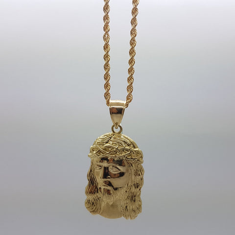 10k Yellow Gold Rope Chain Abbe Necklace