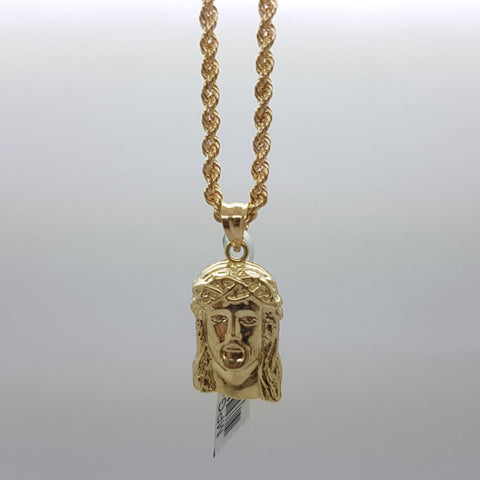10k Yellow Gold Rope Chain Agostino Necklace