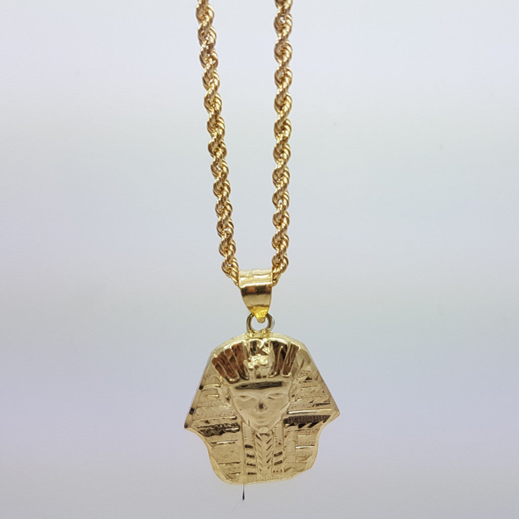 10k Yellow Gold Rope Chain Ahmose Necklace - Solid Gold Online