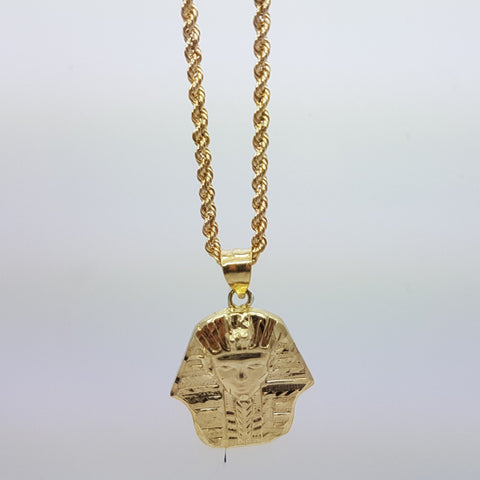 10k Yellow Gold Rope Chain Ahmose Necklace