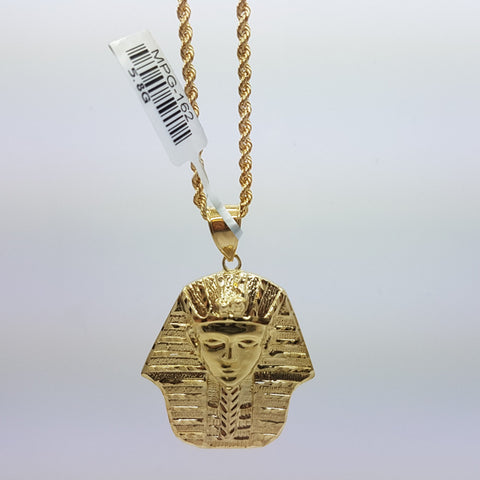 10k Yellow Gold Rope Chain Ahotep Necklace