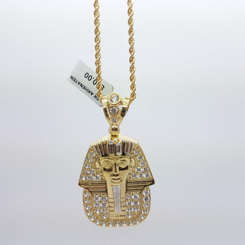 10k Yellow Gold Rope Chain Akhenaten Necklace - Solid Gold Online