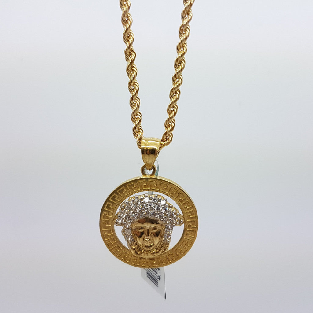 10k Yellow Gold Rope Chain Ancona Necklace - Solid Gold Online