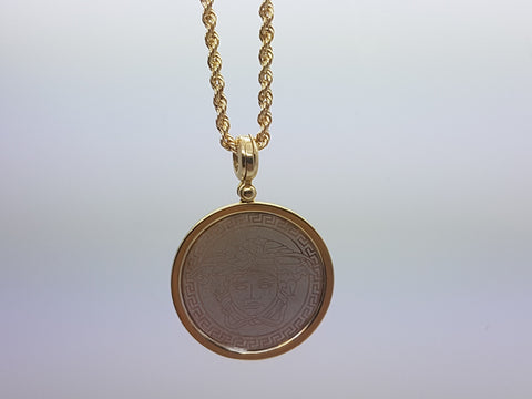 10k Yellow Gold Rope Chain Andrew Necklace