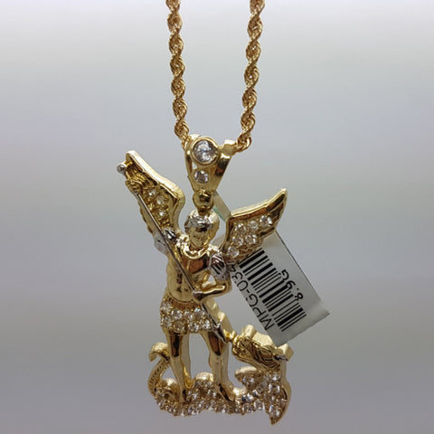 10k Yellow Gold Rope Chain AngelDraco Necklace - Solid Gold Online