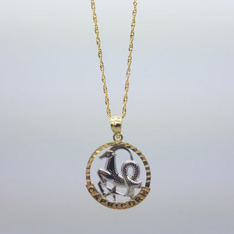 10k Yellow Gold Rope Chain Aquarius2 Necklace