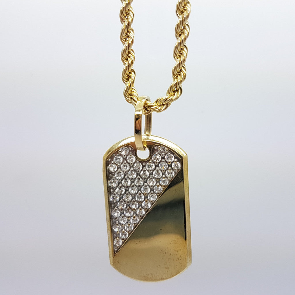 10k Yellow Gold Rope Chain Armytag1 Necklace - Solid Gold Online