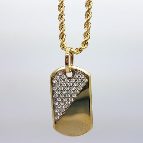 10k Yellow Gold Rope Chain Armytag1 Necklace
