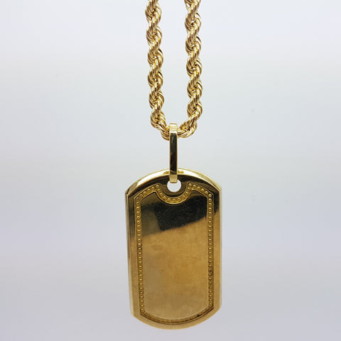 10k Yellow Gold Rope Chain Armytag3 Necklace - Solid Gold Online