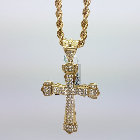 10k Yellow Gold Rope Chain Assasi Necklace