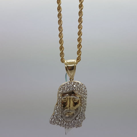 10k Yellow Gold Rope Chain Babel Necklace
