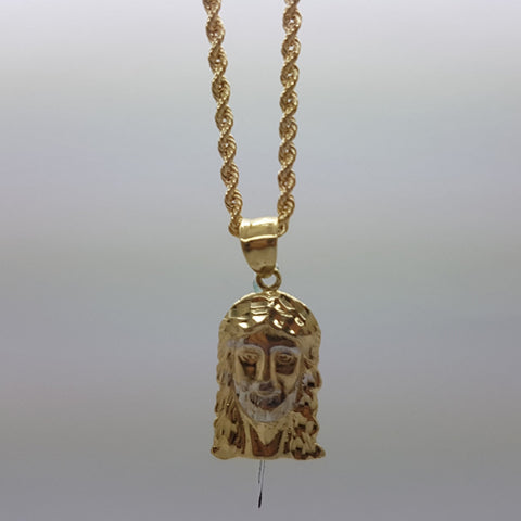 10k Yellow Gold Rope Chain Belehem Necklace - Solid Gold Online