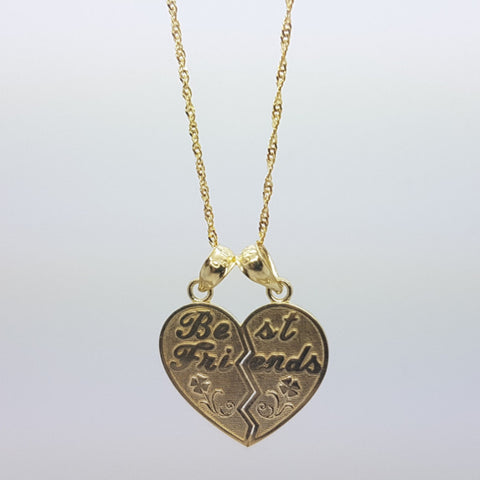 10k Yellow Gold Rope Chain Bestfriend Necklace