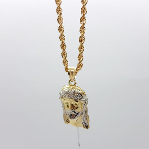 10k Yellow Gold Rope Chain Bishop Necklace