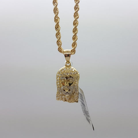 10k Yellow Gold Rope Chain Christiano Necklace