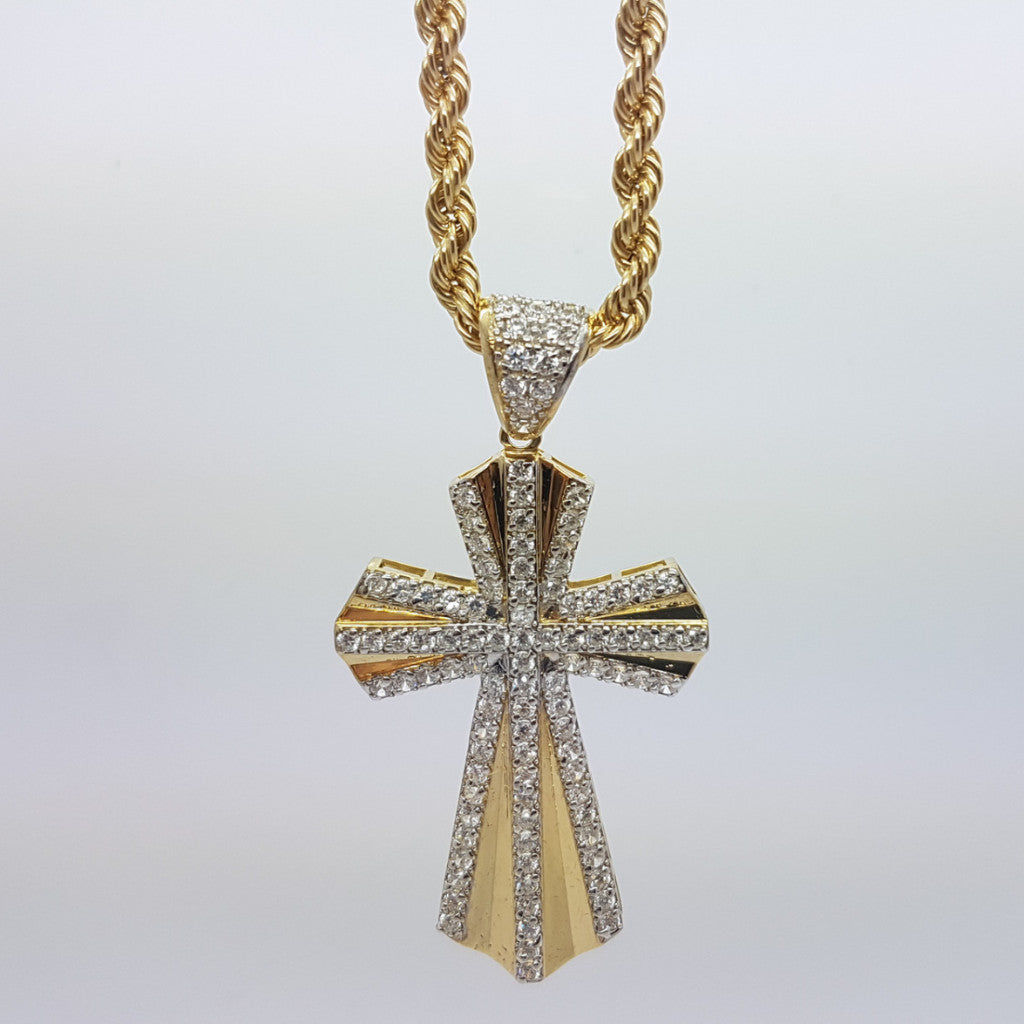 10k Yellow Gold Rope Chain Croix5 Necklace - Solid Gold Online