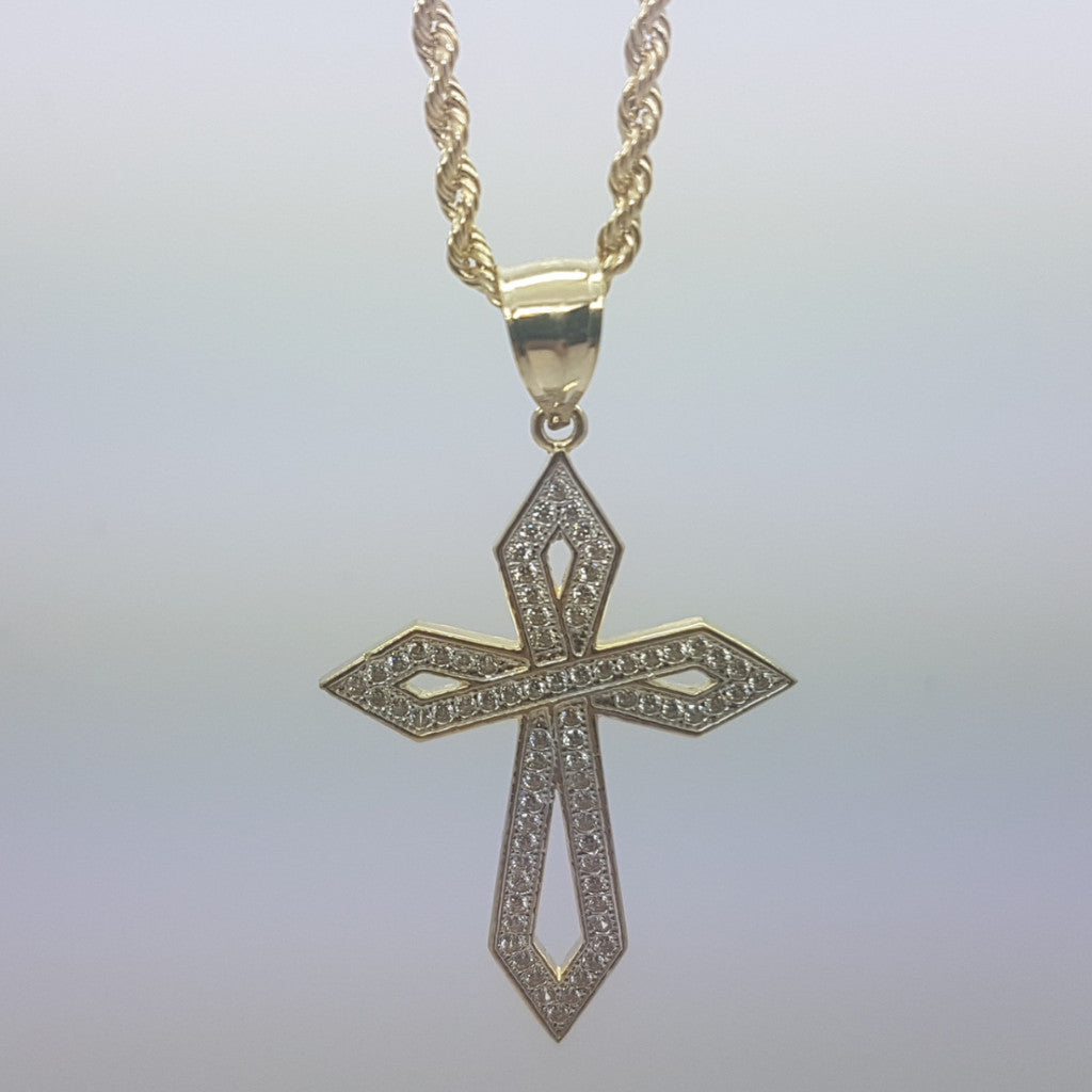 10k Yellow Gold Rope Chain Mauldin Necklace - Solid Gold Online