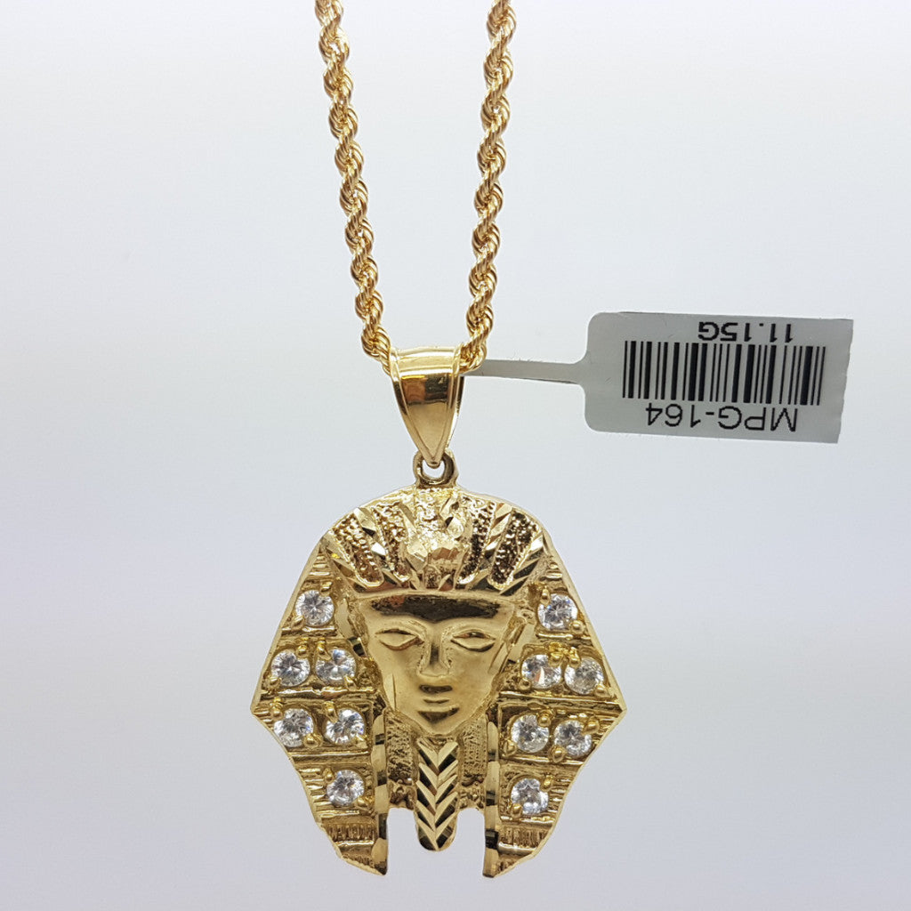 10k Yellow Gold Rope Chain Ramesse Necklace - Solid Gold Online