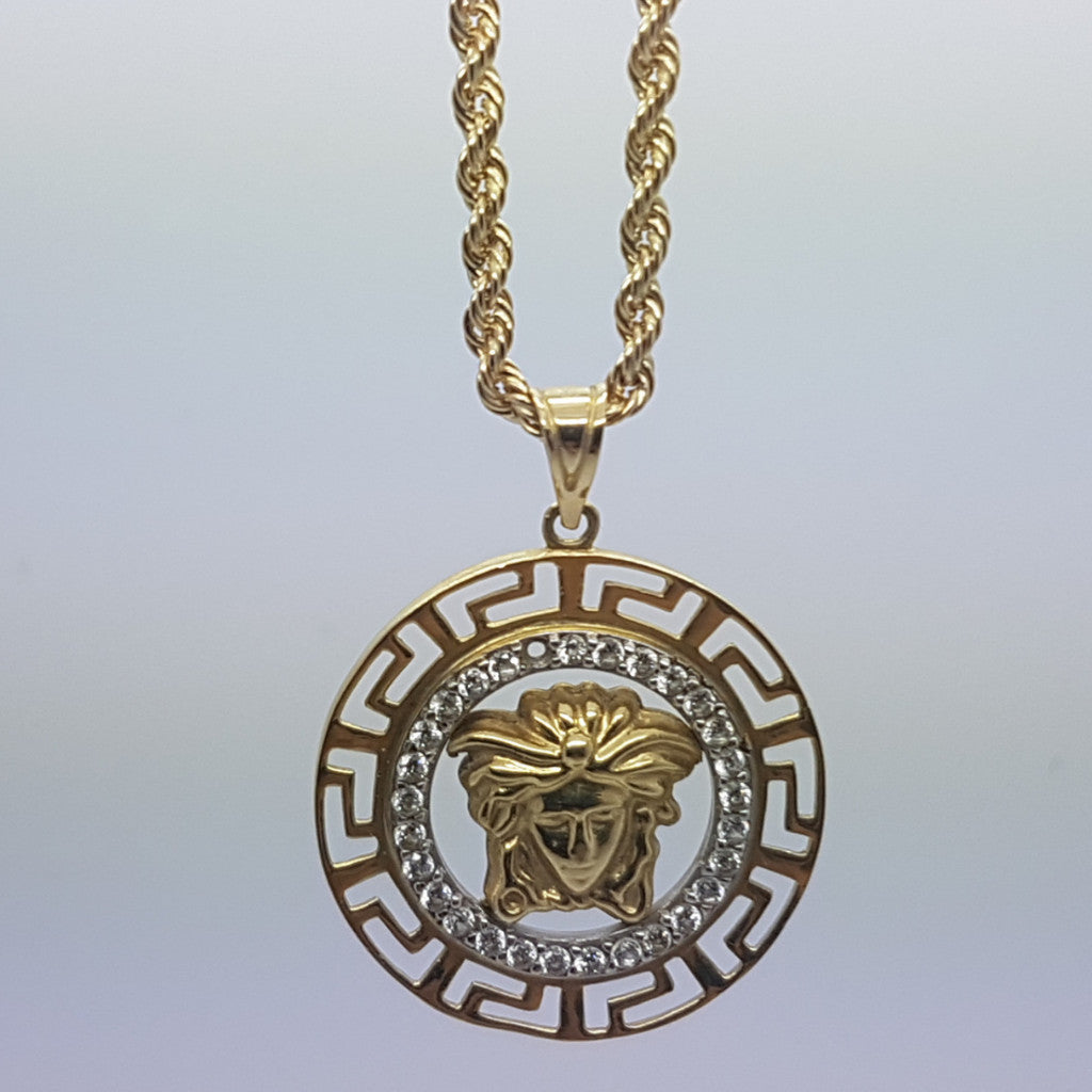 10k Yellow Gold Rope Chain Travis Necklace - Solid Gold Online