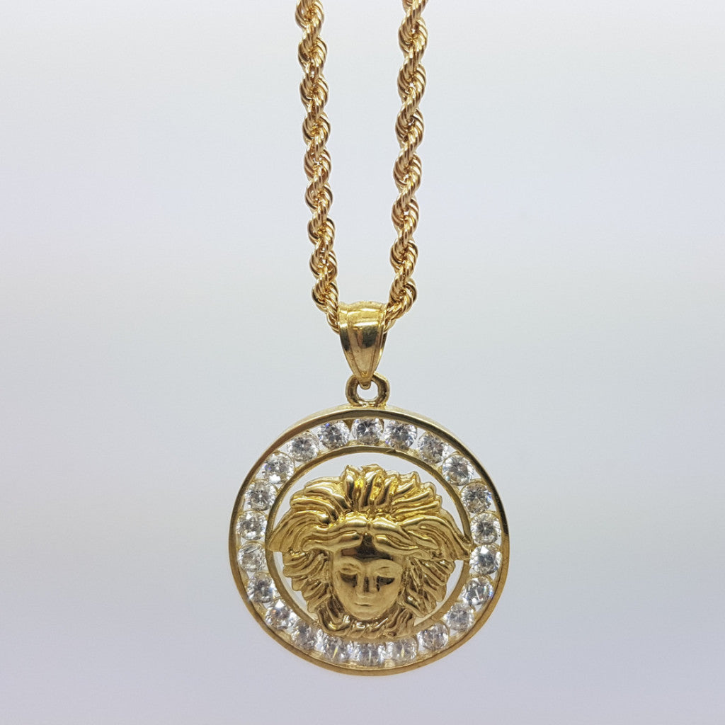 10k Yellow Gold Rope Chain Vers7 Necklace - Solid Gold Online