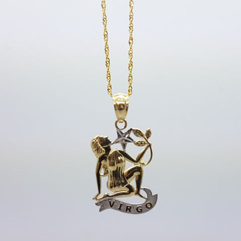 10k Yellow Gold Rope Chain Virgo2 Necklace